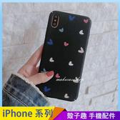 黑色愛心 iPhone XS Max XR iPhone i7 i8 i6 i6s plus 手機殼 手機套 全包邊硬殼 保護殼保護套 磨砂殼 防指紋