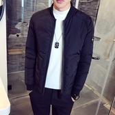 夾克外套-棒球領韓版時尚休閒保暖夾棉男外套2色73qa22[時尚巴黎]