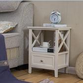 歐式臥室床頭櫃簡約現代白色實木床邊櫃迷你小斗櫃簡易儲物櫃整裝WY 萬聖節