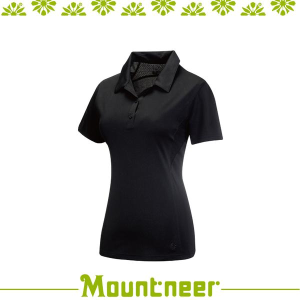 【Mountneer 山林 女 透氣排汗上衣《黑》】31P28/短袖/排汗衣/T恤/運動短袖/登山露營