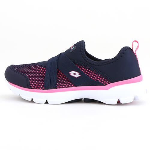 女款 LOTTO 超輕量透氣飛織網布X型鬆緊帶 樂活輕跑鞋 健走鞋 懶人鞋 運動鞋 59鞋廊