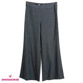 【SHOWCASE】簡約素色後拉鍊OL西裝寬褲(灰)