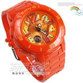Baby-G BGA-171-4B2 雙顯錶 亮橘面 亮橘橡膠 鬧鈴 碼錶 女錶 47mm BGA-171-4B2DR CASIO卡西歐 橘色 日期