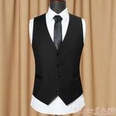 西裝馬甲秋季男士西裝馬甲英倫風韓版黑色雙排扣修身型男裝西服馬甲背心潮 交換禮物