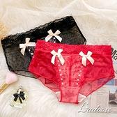 內褲 Ladoore 騎士公主 法式蕾絲精品小褲(紅)