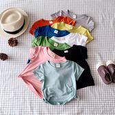 兒童短袖男童夏季薄款T恤小童女寶寶夏裝嬰兒莫代爾半袖親子上衣