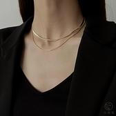 雙層項鏈女氣質鎖骨鏈時尚百搭衛衣鏈【小酒窝服饰】