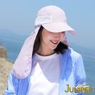 防曬帽子-女款抗紫外線UV防潑水運動休閒帽+可拆式披風J7503 JUNIPER