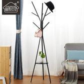 溢彩年華臥室內挂衣架落地鐵藝金屬簡約現代樹枝家用創意衣帽架子 樂活生活館