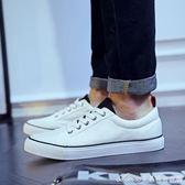 秋季帆布鞋男韓版休閒小白鞋男士潮流板鞋學生布鞋透氣簡約男鞋子 艾美時尚衣櫥