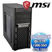 微星Z390平台【江湖同盟】Intel i5-9600K【6核/6緒】 8G/1TB/微星GTX1050獨顯 電競機【刷卡分期價】