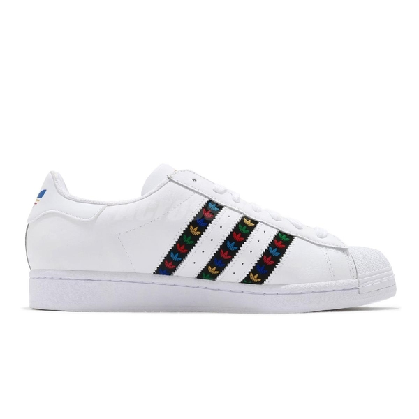 adidas 休閒鞋 Superstar 白 黑 彩色 男鞋 女鞋 金標 串標設計 運動鞋 貝殼頭 【ACS】 FZ0059