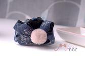 蜜諾菈Minerva‧專屬設計簡約小花毛球立體蝴蝶結鯊魚夾髮飾款‧編號00429