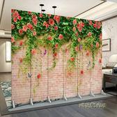 中式屏風隔斷實木時尚客廳現代簡約酒店雙面移動臥室布藝玄關折屏igo「時尚彩虹屋」
