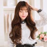 中長假髮韓系中長假髮女士無痕加厚接假髮片 自然大波浪長捲一片式捲髮片