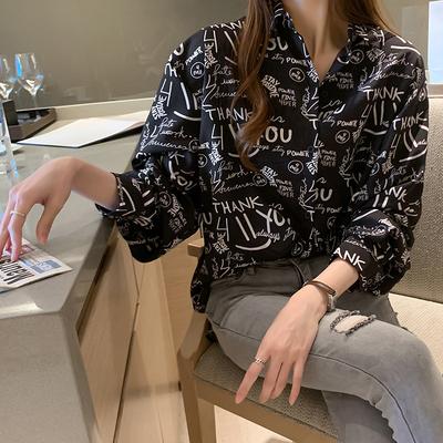 長袖襯衫 上衣襯衫女設計感小眾輕熟新款秋季復古港風chic上衣 3360 N502 韓依紡