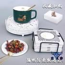 隔熱墊餐桌墊防燙木質菜碗墊子家用鍋墊寸耐熱餐墊盤【古怪舍】