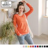 《KG0398》高含棉多色系素面大學T衛衣上衣 OrangeBear