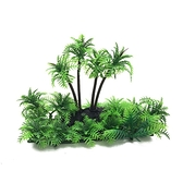 一佳寵物館 造景仿真椰子樹林水族箱仿真水草烏龜爬蟲缸爬蟲寵物魚缸裝飾品