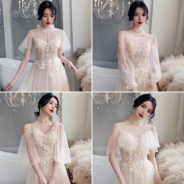 香檳色新款結婚伴娘禮服