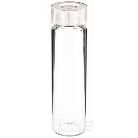 《Kimble 》螺蓋樣本瓶 中孔白蓋 Vail, EPA Water Analysis, Screw Thread, Open-Top Closure