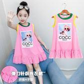 女童純棉洋裝連身裙夏季棉綢洋氣夏裝裙子小女孩公主裙潮