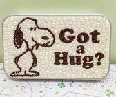 【震撼精品百貨】史奴比Peanuts Snoopy ~SNOOPY 鑲鑽收納盒/鐵盒-白史奴比#31084