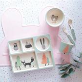 澳洲 Love Mae 五件組竹纖維餐具-狐狸與朋友