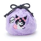 【震撼精品百貨】酷洛米_Kuromi~Sanrio 酷洛米縮口袋/縮口收納袋-紫絨毛#00879