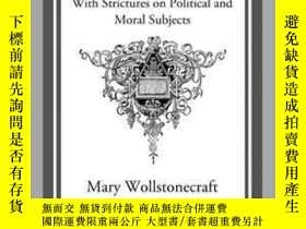 二手書博民逛書店A罕見Vindication of the Rights of WomanY410016 Mary Wolls