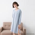 【GIORDANO】女裝長袖居家洋裝 - 02 藍白條紋