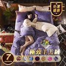 Free Shop 極致保暖羊羔絨配法蘭絨純色床包組 雙面高級質感柔軟舒適珊瑚絨水晶絨床單【QAAAS7219】