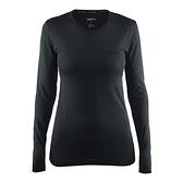 【速捷戶外】瑞典Craft 1903714 全天候長袖內著衣(女)-黑色, 滑雪 跑步 路跑 野跑 馬拉松 夜跑