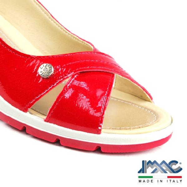 【IMAC】時尚交叉楔型高跟鞋 紅色(72510-RE)