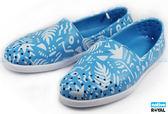 Native 新竹皇家 VERONA PRINT 藍色 臉譜系列 輕量 水手鞋 男女款 NO.A6890