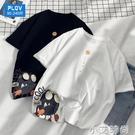 短袖t恤男日系潮牌加肥加大衣服夏季純棉中學生寬鬆港風潮流半袖 小艾新品
