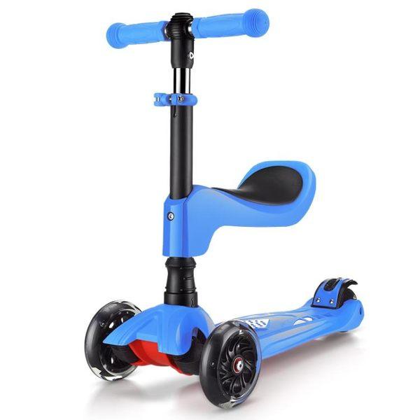 速客三合一兒童滑板車2歲寶寶可坐四輪閃光3歲幼兒初學者滑滑車 igo 小時光生活館