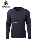 丹大戶外用品 荒野【Wildland】男輕量鍺纖維親膚保暖衣 型號 0A62668-54 黑色