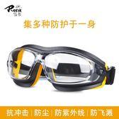 護目鏡護目鏡防塵防風沙抗沖擊防化學酸堿噴漆飛濺打磨勞保防護眼鏡