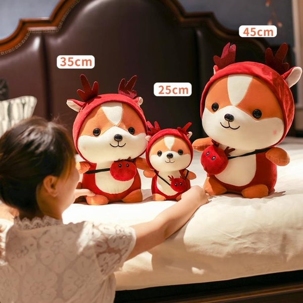 玩偶 可愛柴犬布偶娃娃小狗公仔女生床上睡覺抱枕玩偶毛絨玩具閨蜜禮物【快速出貨八折下殺】
