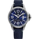 elegantsis JT55A 復古潮流機械腕錶-藍/44mm ELJT55A-NU02LC