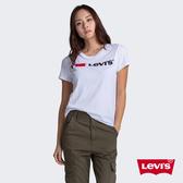 Levis 女款 短袖T恤 / 翻玩夏日Logo T / 植絨Logo