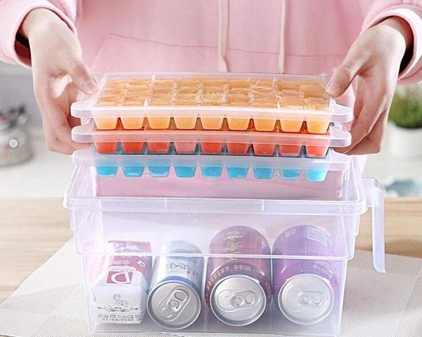 家用制作冰塊模具冰格制冰盒冰箱做冰塊的制冰器空心冰凍冰塊套裝年貨慶典 限時鉅惠