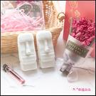 復古斑駁摩艾擴香石+乾燥花禮盒(透明盒-附精油+提袋) 生日禮物 畢業禮物 節日禮物 婚禮小物