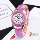 可愛清晰數字兒童手錶 小學生女孩石英防水電子腕錶 韓版幼童手錶