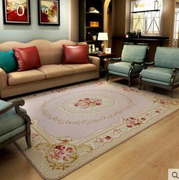 地毯客廳簡約現代茶几滿鋪臥室床邊毯進門珊瑚絨沙發地毯 130×190