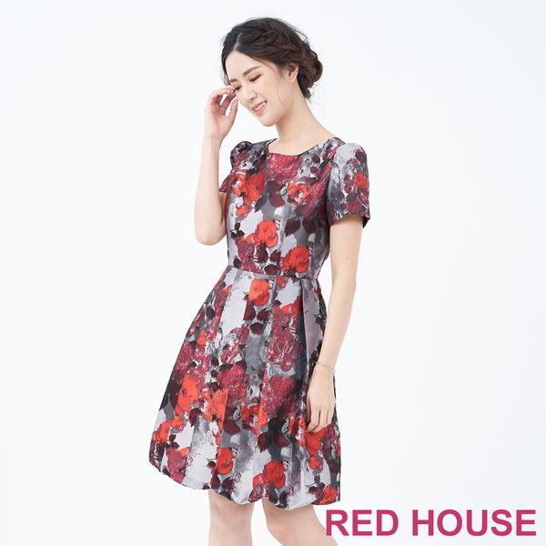 RED HOUSE-蕾赫斯-暗花花苞洋裝(共2色)