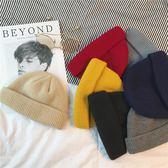 INS網紅青年秋冬季針織帽子男女生情侶包頭帽子學生純色毛線帽潮  提拉米蘇