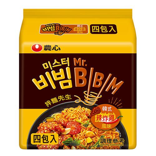 韓國農心韓式炸雞風味拌麵504g【愛買】