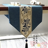 桌旗禪意茶幾餐桌長條裝飾桌布隔熱墊電視柜鞋柜蓋布茶臺布【聚可愛】